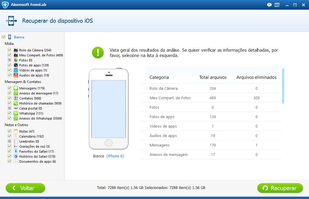 Analise o iPhone