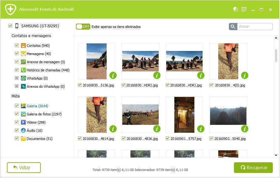 FoneLab Android - recuperar fotos apagadas