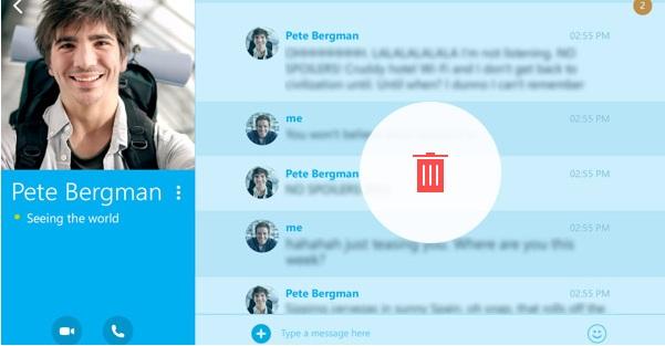 Cómo borrar mensajes de Skype