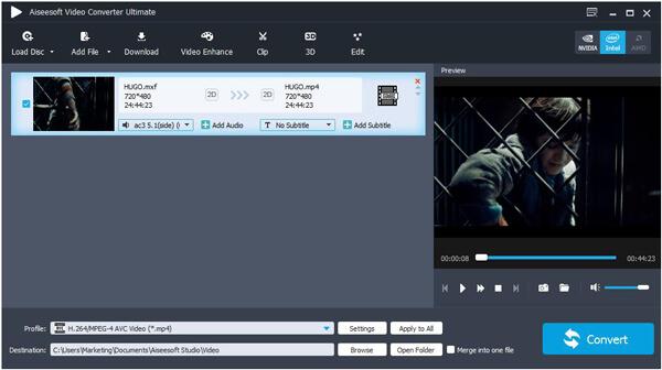 Importe os arquivos de vídeo