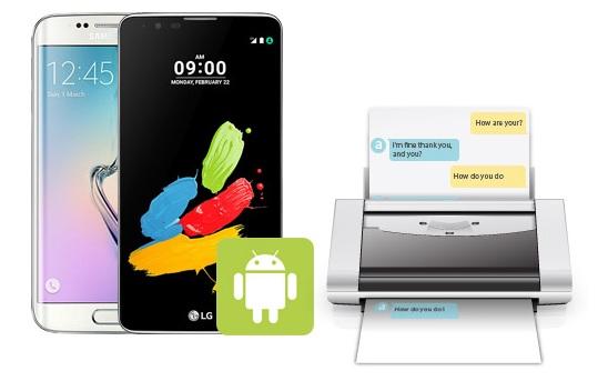 Cómo imprimir mensajes Android