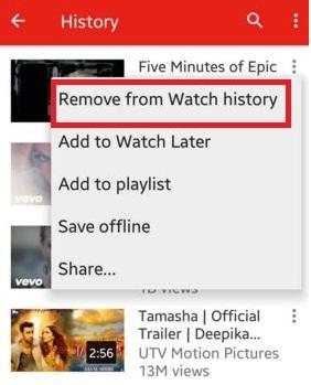 Cómo limpiar el historial de YouTube