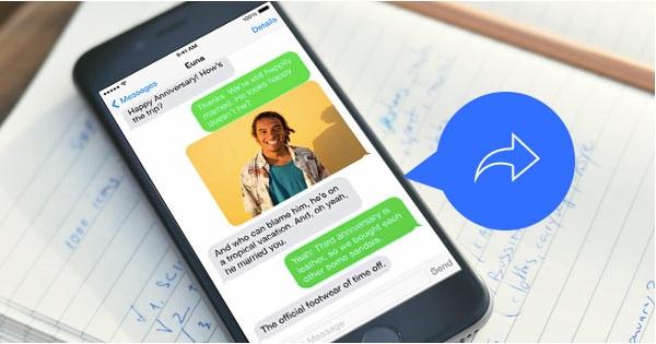 Cómo reenviar mensajes en iPhone