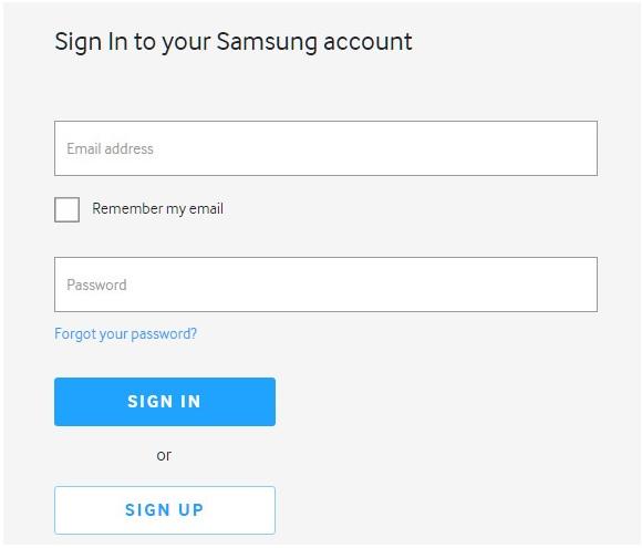 Cómo recuperar Log in en Samsung