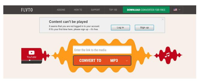Convertidor online de YouTube a MP3