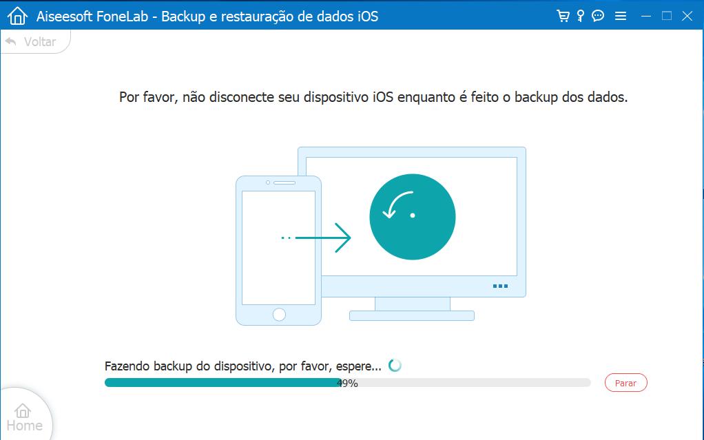 Processo de criação de backup