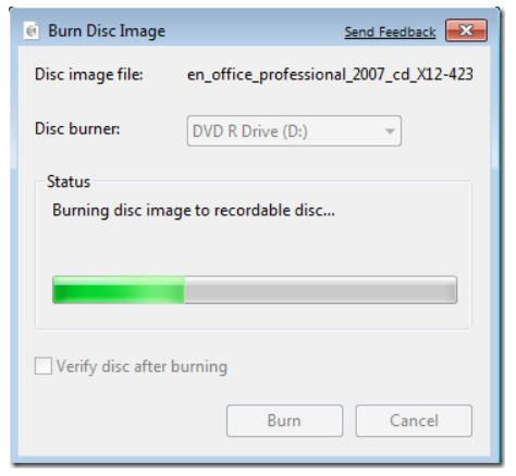 Grabar archivo ISO en DVD