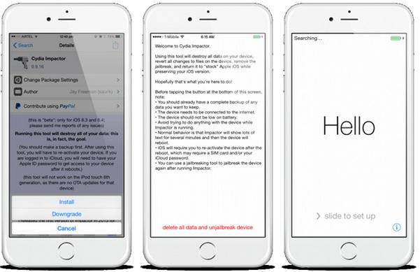 Cómo revertir el jailbreak de iPhone