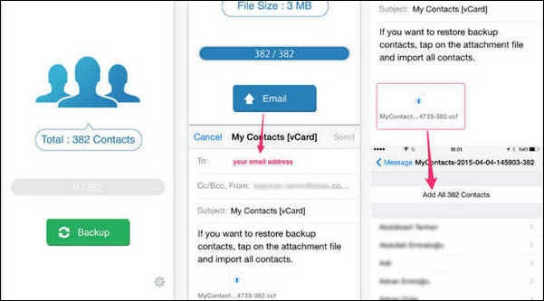 Cómo realizar copia de seguridad de contactos