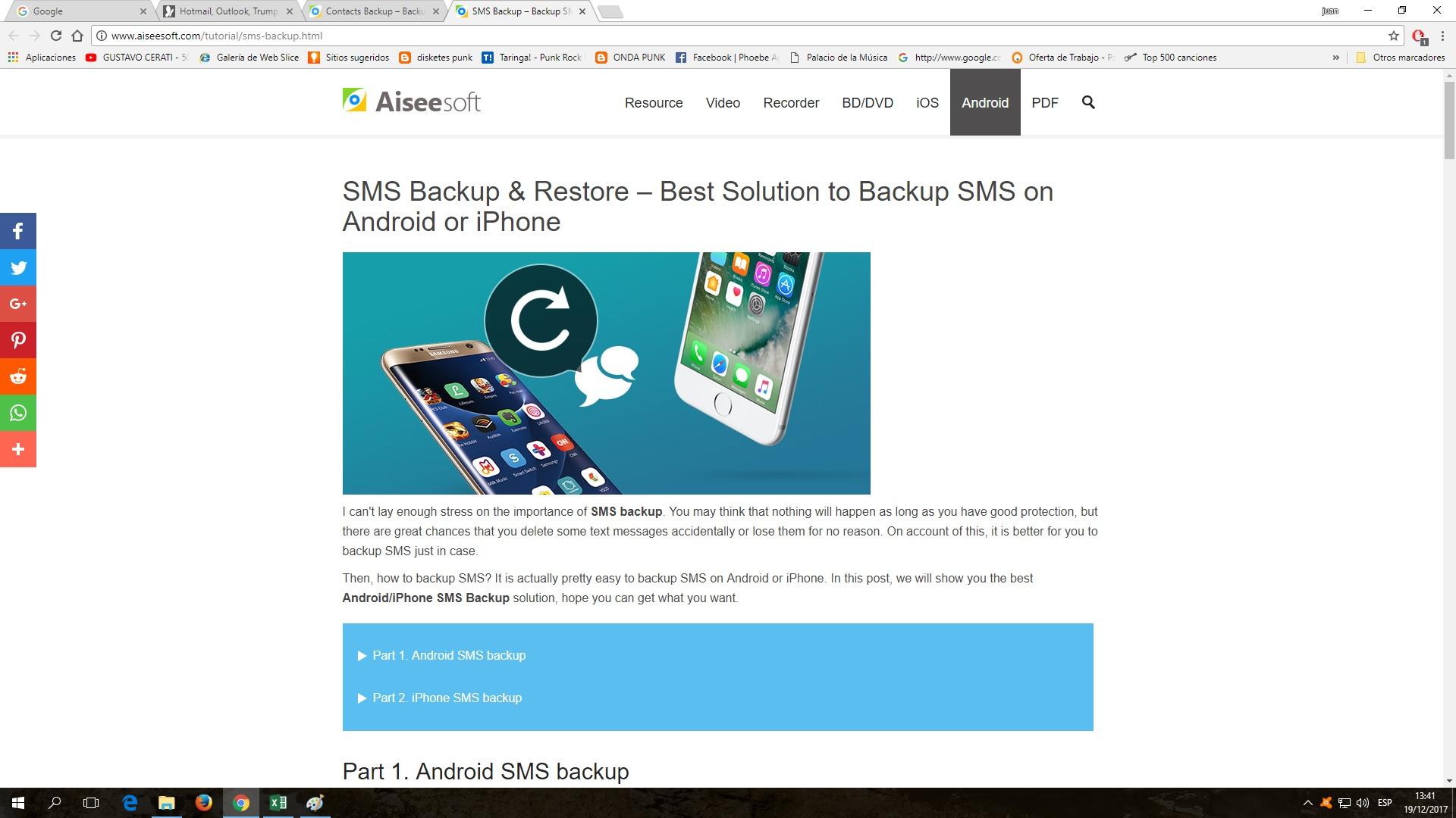 Cómo realizar copia de seguridad de sms