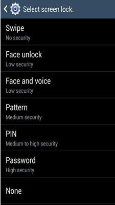 Cómo salir de la pantalla de bloqueo en Samsung