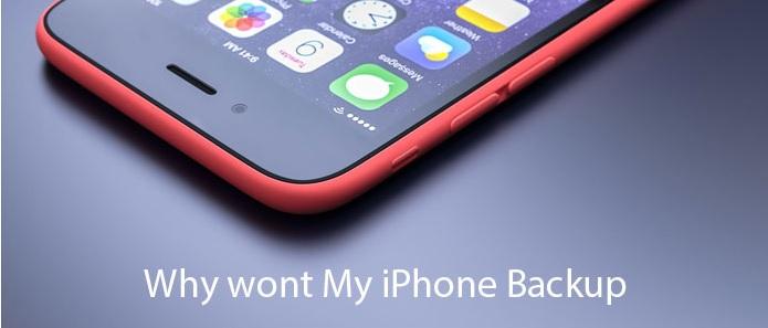 Por qué la copia de seguridad de iPhone no funciona