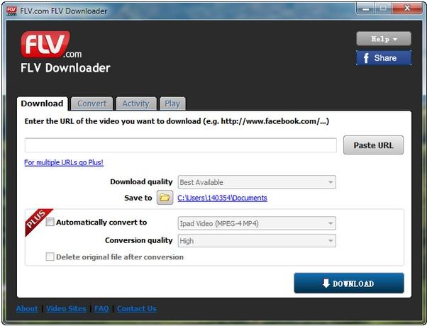 Programa para descargar FLV
