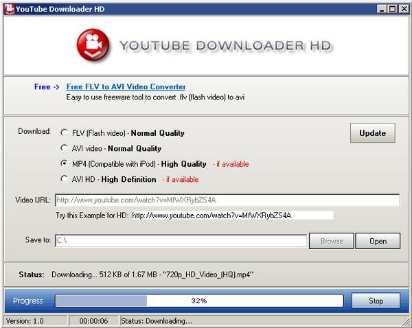 Programa para descargar videos de YouTube en HD