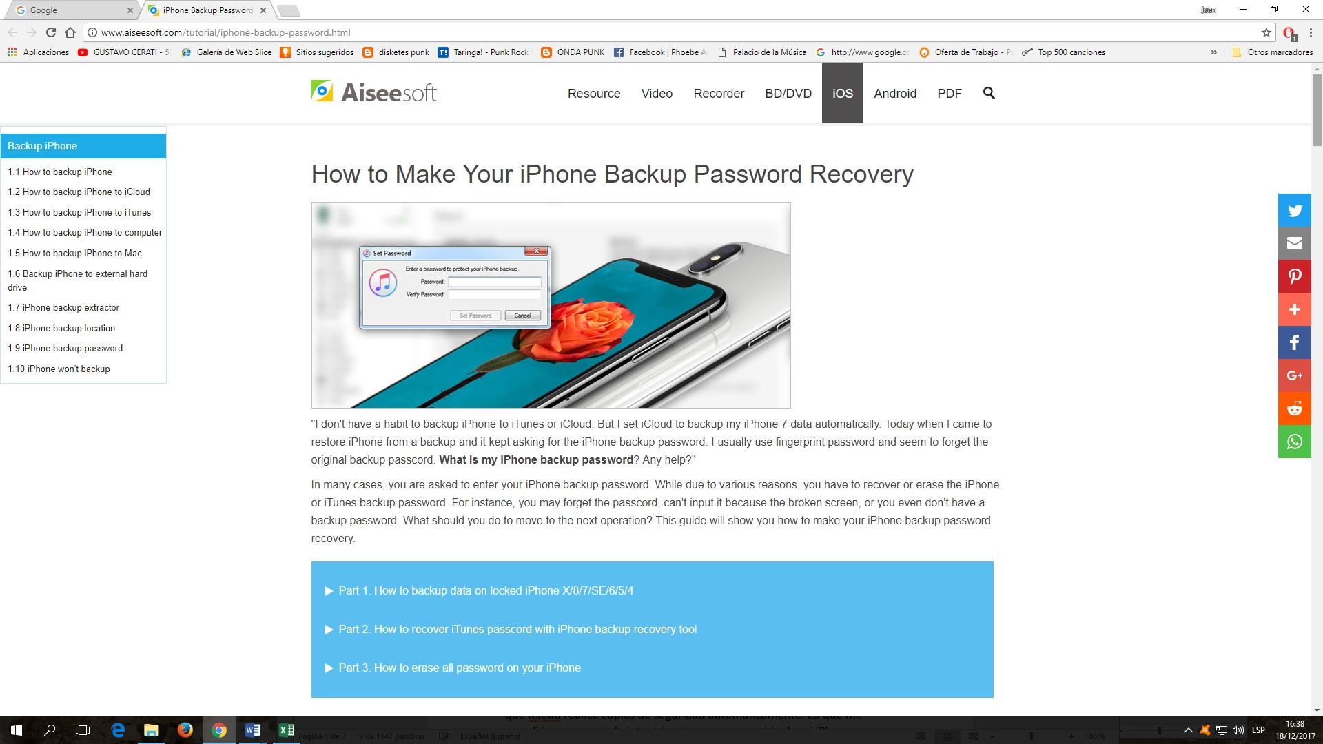 Cómo recuperar copias de seguridad con contraseña en iPhone