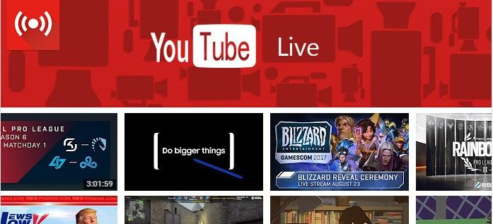Qué es YouTube live