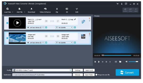 Unir archivos de video
