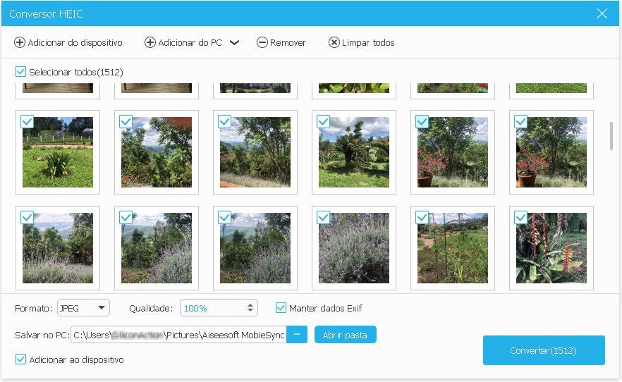 Como converter fotos HEIC