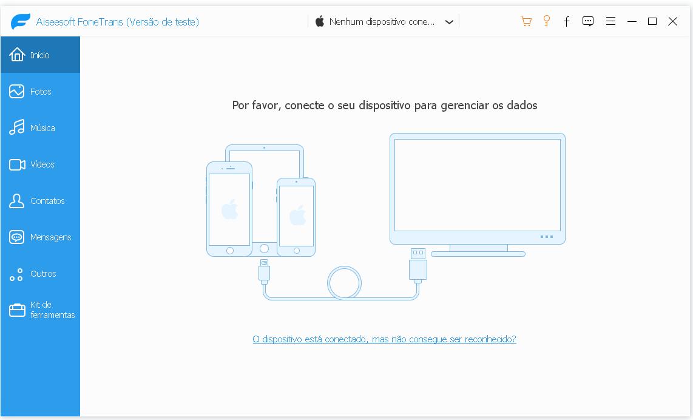 Backup restaurar dados iPhone Aiseesoft FoneTrans