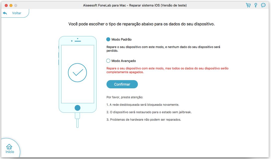 Mais ferramentas para a reparação/recuperação de dispositivos iOS