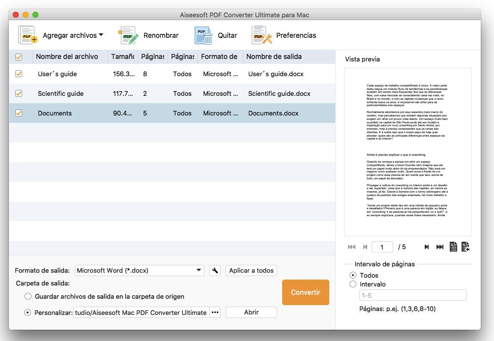 Importar archivos PDF