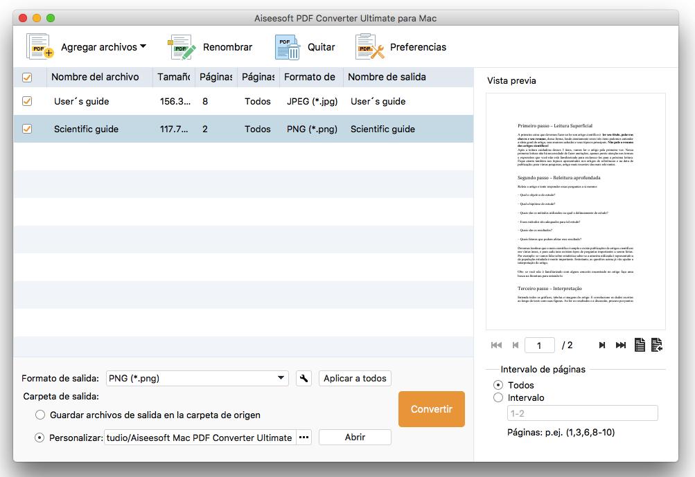 Convertir PDF a formato de Imagen