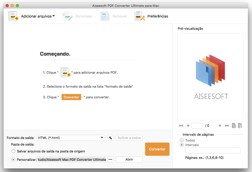 Iniciar PDF Converter Ultimate para Mac