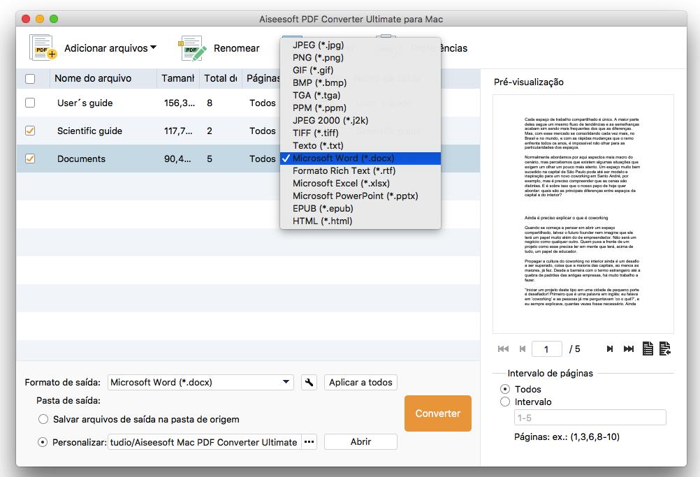 Converter PDF para Word