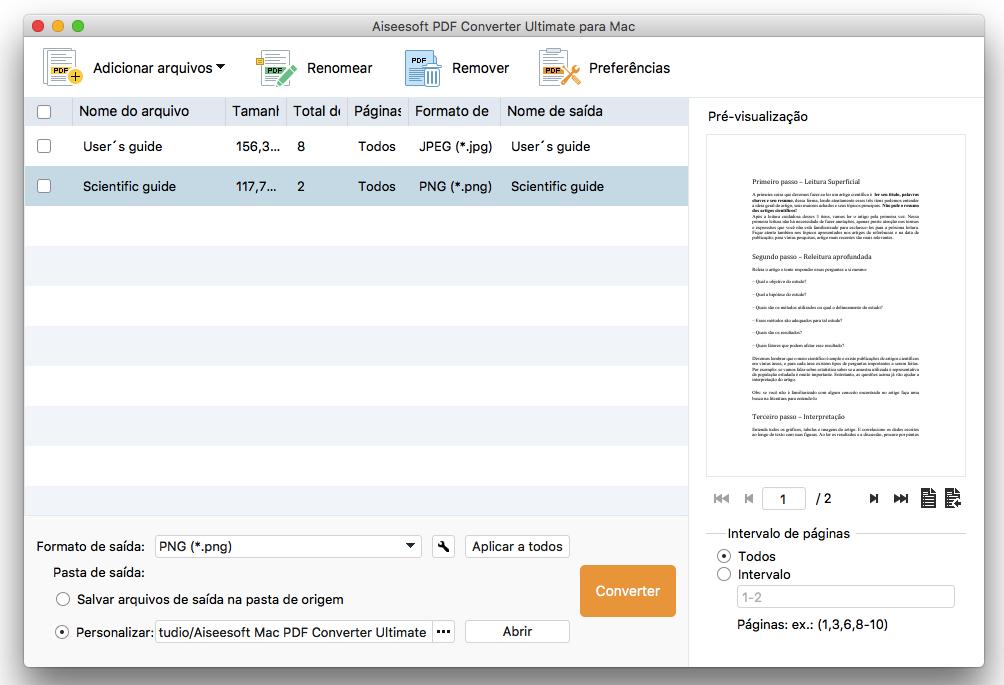 Converter PDF para formato de Imagen
